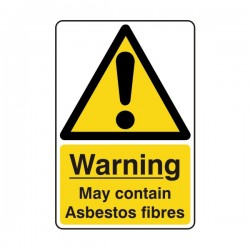 May Contain Asbestos Fibres Sign