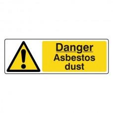 Danger Asbestos Dust Sign (Landscape)