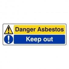 Danger Asbestos / Keep Out Sign (Landscape)
