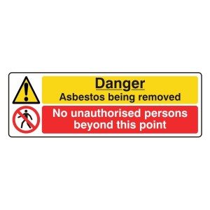 Asbestos / No Unauthorised Persons Sign (Landscape)