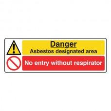 Danger Asbestos / No Entry Sign (Landscape)