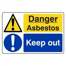 Danger Asbestos / Keep Out Sign (Large Landscape)