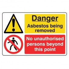 Asbestos / No Unauthorised Persons Sign (Large Landscape)