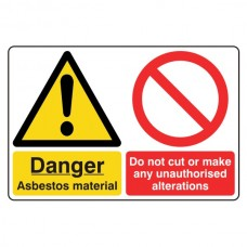 Asbestos Material / Do Not Make Alterations Sign (Large Landscape)