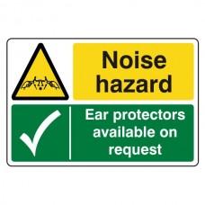 Noise Hazard / Ear Protectors Sign (Large Landscape)