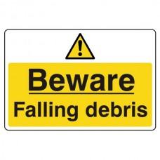 Beware Falling Debris Sign (Large Landscape)