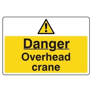 Danger Overhead Crane Sign (Large Landscape)