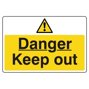 Danger Keep Out Sign (Large Landscape)