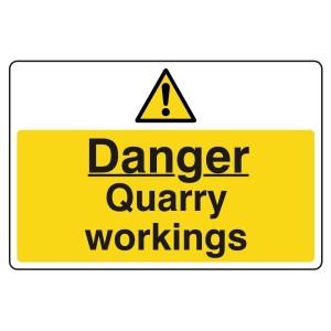 Danger Quarry Workings Sign (Large Landscape)