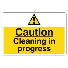 Caution Cleaning In Progress Sign (Large Landscape)