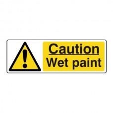 Caution Wet Paint Sign (Landscape)