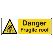 Danger Fragile Roof Sign (Landscape)