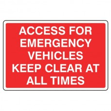 Access For Emergency Vehicles Sign