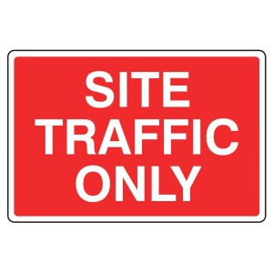Site Traffic Only Sign