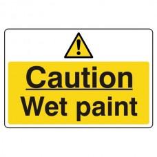Caution Wet Paint Sign (Large Landscape)