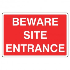 Beware Site Entrance Sign