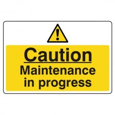 Caution Maintenance In Progress Sign (Large Landscape)