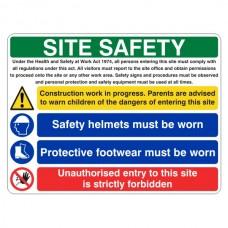 Multi Hazard Site Safety Protective Footwear Sign (Large Landscape)