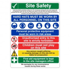 Multi-Hazard Site Safety Unauthorised Entry Sign