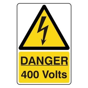 Danger 400 Volts Portrait Sign