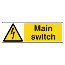 Main Switch Sign (Landscape)