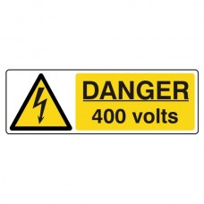 Danger 400 Volts Sign (Landscape)