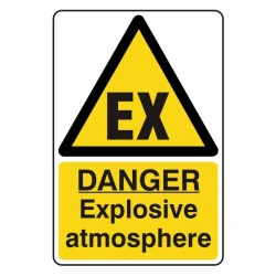 Danger Explosive Atmosphere Sign