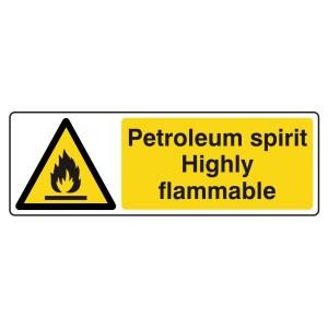 Petroleum Spirit Highly Flammable Sign (Landscape)
