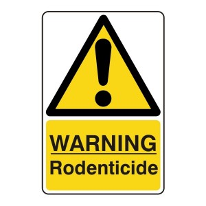 Warning Rodenticide Sign