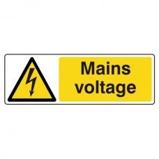 Mains Voltage Sign (Landscape)