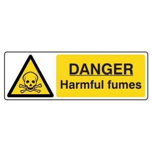 Danger Harmful Fumes Sign (Landscape)