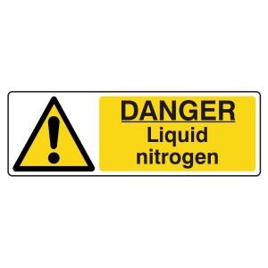 Danger Liquid Nitrogen Sign (Landscape)