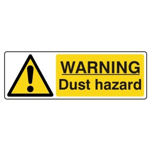 Warning Dust Hazard Sign (Landscape)