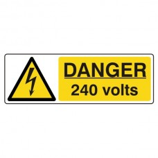 Danger 240 Volts Landscape Sign (Landscape)