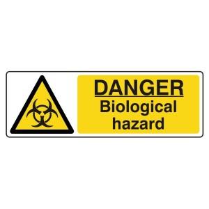 Danger Biological Hazard Sign (Landscape)