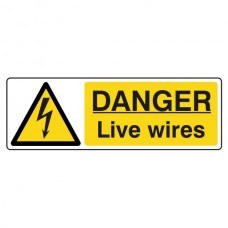 Danger Live Wires Sign (Landscape)