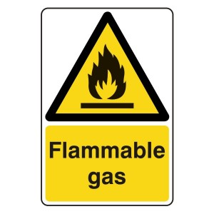 Flammable Gas Sign