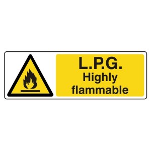 LPG Highly Flammable Sign (Landscape)