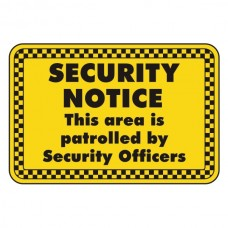 Area Patrolled By Security Guards Security Sign (Landscape)