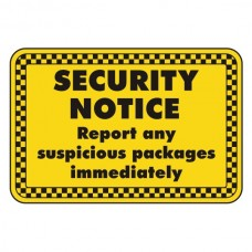 Report Any Suspicious Packages Security Sign (Landscape)