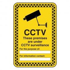 CCTV - Premises Under CCTV Surveillance Security Sign