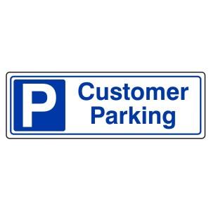 Customer Parking Sign (Landscape)
