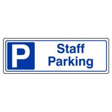 Staff Parking Sign (Landscape)