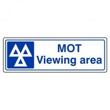 MOT Viewing Area Sign (Landscape)
