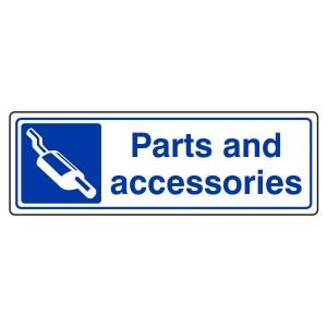 Parts & Accessories Sign (Landscape)