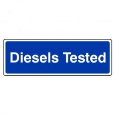 Diesels Tested Sign (Landscape)