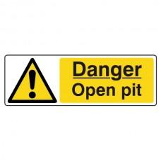 Danger Open Pit Sign (Landscape)