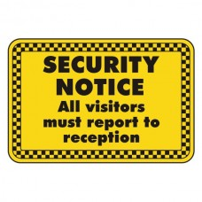 All Visitors Must Report To Reception Security Sign (Landscape)