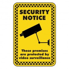 Premises Protected By Video Surveillance Security Sign