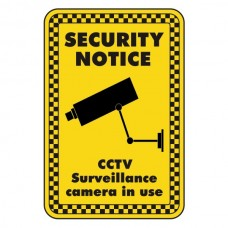 CCTV Surveillance Camera In Use Security Sign